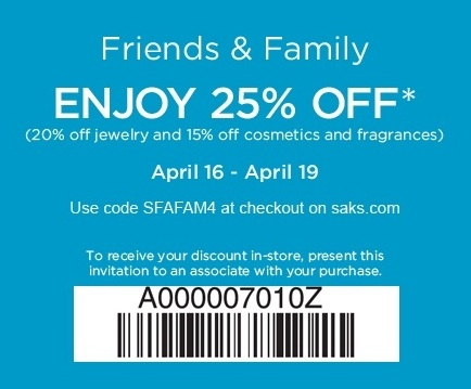 Saks Fifth Avenue OFF 5TH is taking an extra 40% off during the Friends and Family Sale with Coupon Code: FRIENDS (Exp Soon). Free Shipping on orders $75+ with Coupon Code 5/5(8).