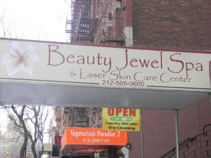 Outside the Beauty Jewel Spa