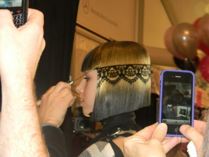 Redken stylist Peter Gray at Betsey Johnson