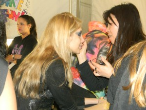 sneak peak at Betsey Johnson Fall Winter 2011 makeup