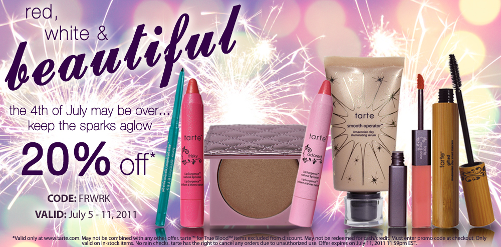 Tarte Cometics Sale 20% off