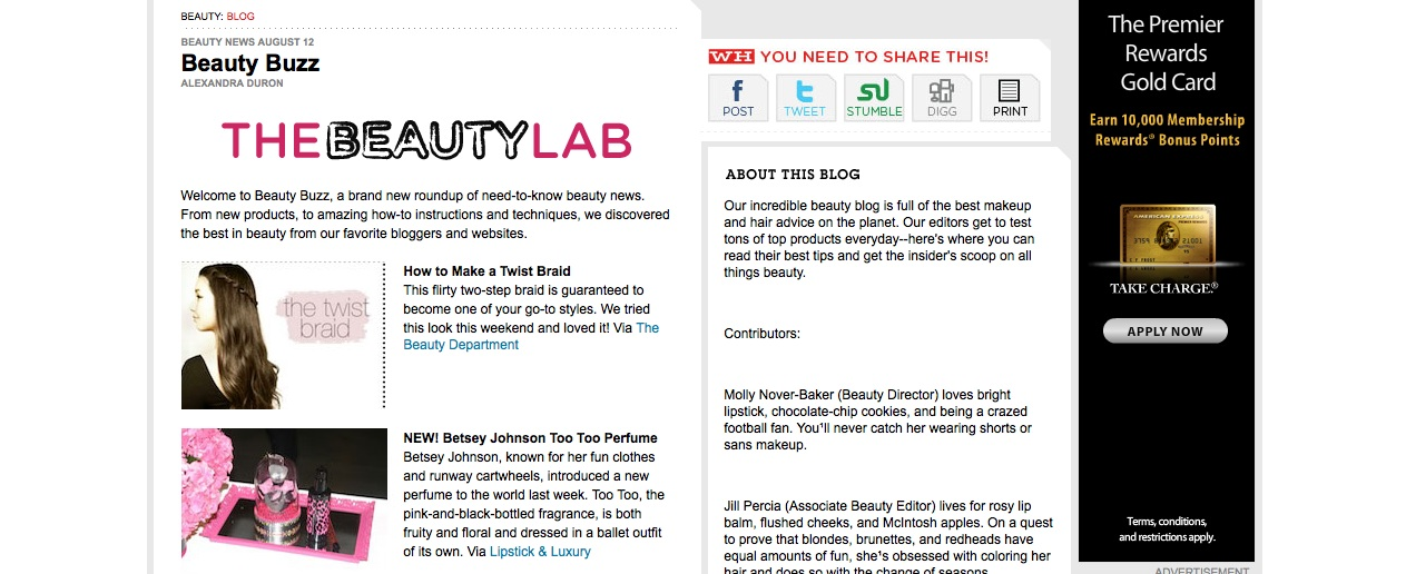 Womens Health Magazine Beauty Bloggers