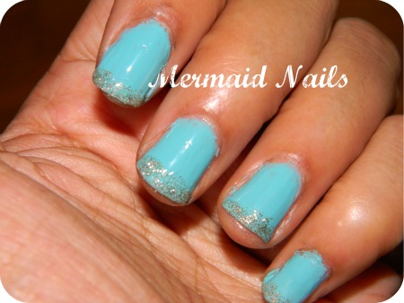 Mermaid nails Fall 2011 nail trends and nail polish