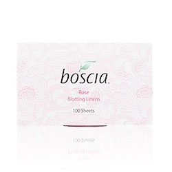 Boscia Rose blotting linens for breast cancer awareness