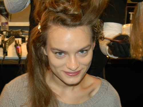 Mally Roncal makeup for Tracy Reese Spring 2012