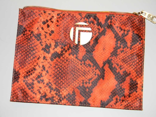 Trina Large Envelop Cosmetic Bag in Rita, Orange