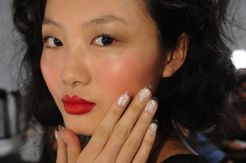CND Lucite Lace Nails at Joy Cioci SS12