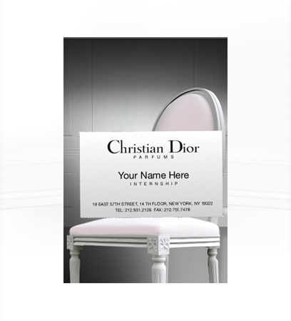 Beauty internship with Christian Dior