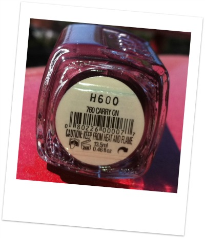 Essie nail polish in carry on