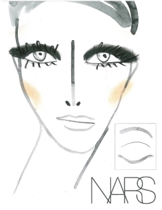 NARS face chart for Honor Fall 2012