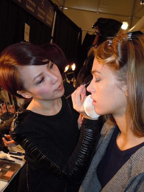 NARS Cosmetics for Honor backstage at Mercedes Benz Fashion Week Fall 2012