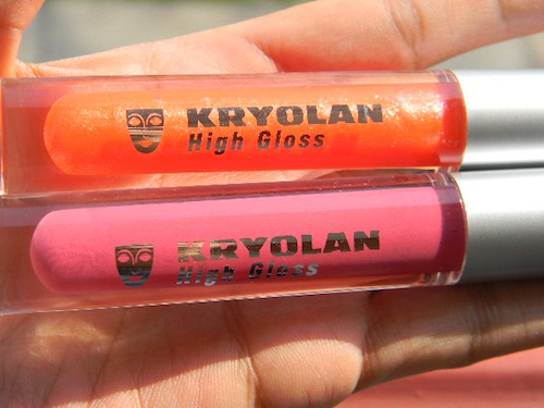 KRYOLAN high gloss lip gloss in Beach and Kir