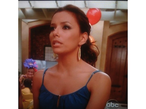 Eva Longoria wearing Sheila Fajl earrings on Desperate Housewives