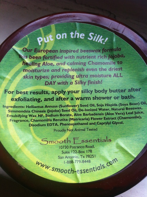 Smooth Essentials Delectable Sugar Silky Body Butter ingredients