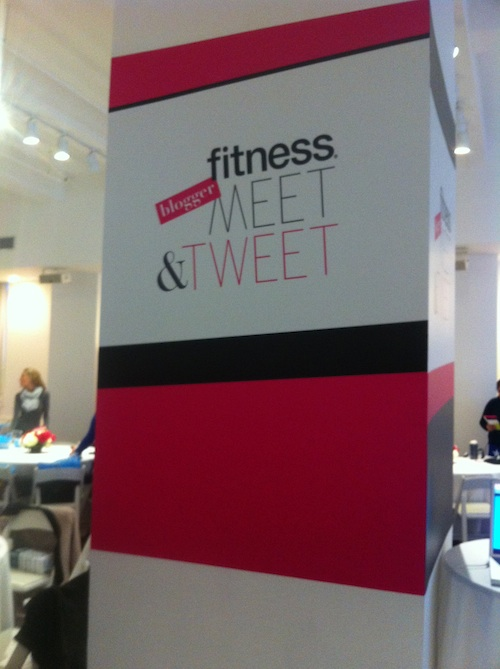 Fitness Magazine Blogger Meet and Tweet sign