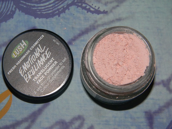 LUSH Handmade cosmetics, new makeup Emotional Brilliance, translucent powder. LUSH products are 100% vegetarian, 81% vegan, and 70% preservative-free.