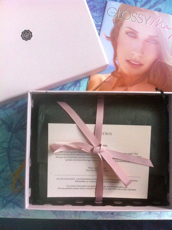 Glossybox July 2012 summer nights review
