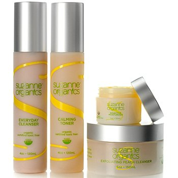 Suzanne Somers Organics 4-Piece Skincare Collection