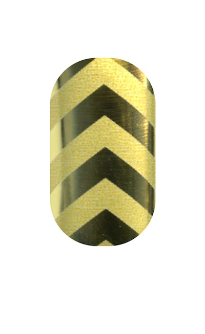 Beyoncé's nails: Gold and Matte Gold Chevrons  Minx photo by Minx