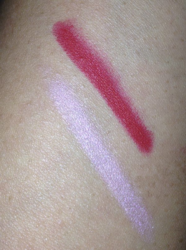 NARS Velvet Matte Lip Pencil Swatches in Paimpol and Mysterious Red