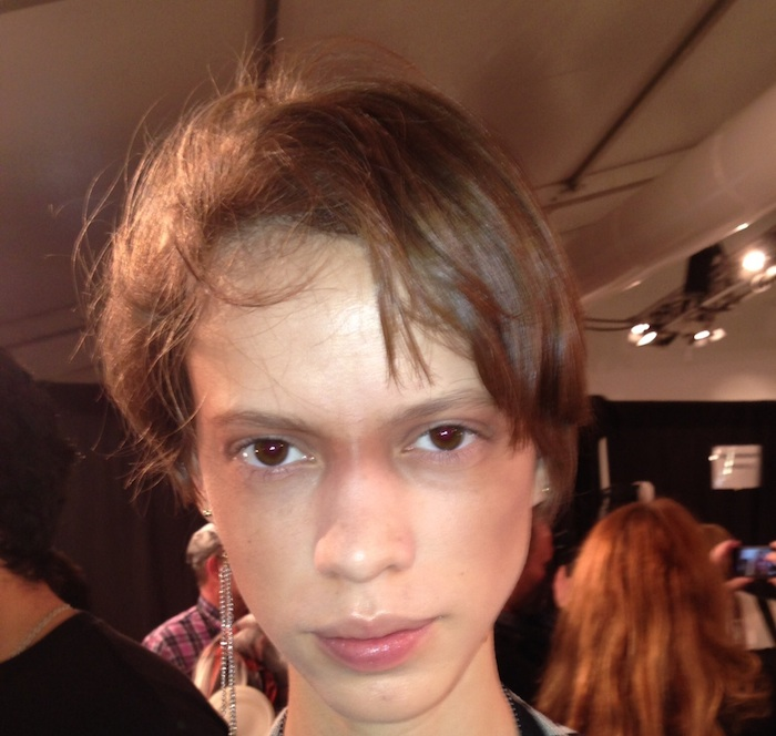 Bronzed Inspiration from NYX Cosmetics backstage at Nichols K S/S '14