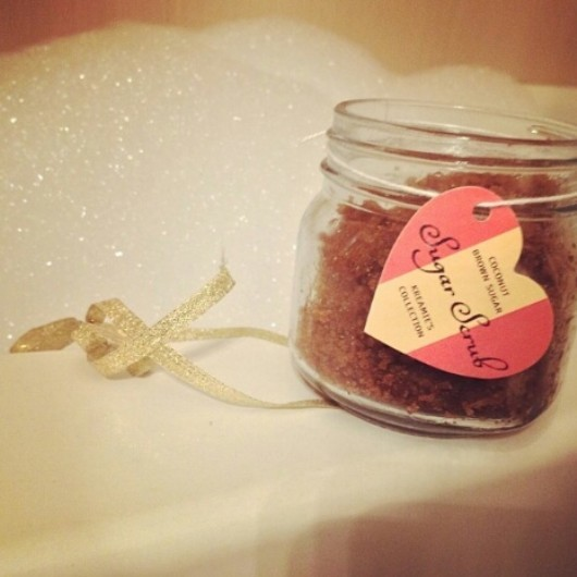 Kreamie's Collection brown sugar body scrub.
