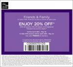 Sak's Friends & Family sale, Get 20% off