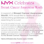 NYX Celebrates Breast Cancer Awareness Month