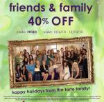 Tarte Friends and Family Discount!