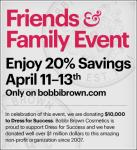 Bobbi Brown Friends & Family Sale - Get 20% off!