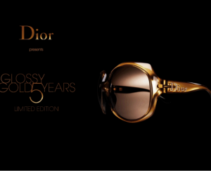 Dior glossy gold sunglasses limited edition