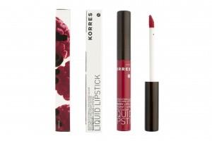 Korres Raspberry Liquid Lipstick red