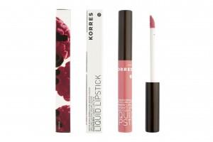 Korres Raspberry Liquid Lipstick soft pink