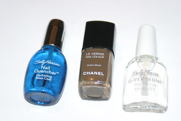 Chanel Manicure, Sally Hansen Nail Quencher and Sally Hansen Super Shine