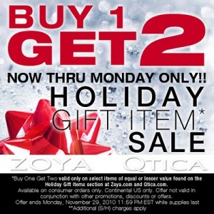 Zoya nail polish Holiday-sale cyber monday