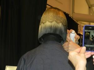 Redken stylist Peter Gray at Betsey Johnson