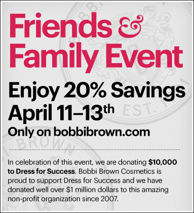 Bobbi Brown Friends & Family Sale 2011 – 20% off!