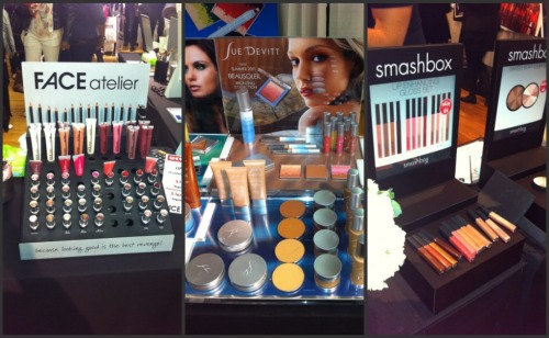 The booths at The Makeup Show NYC