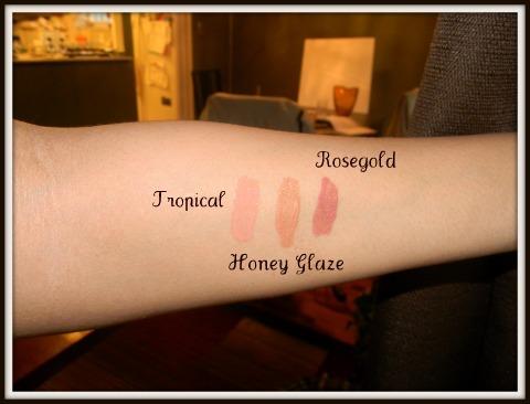 Elizabeth Arden High Shine Lip Gloss Swatches