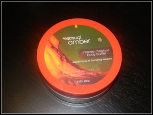 bath and body works sensual amber body butter