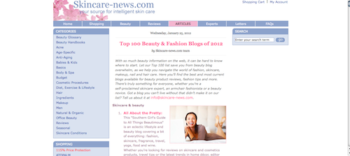 Top 100 Beauty & Fashion Blogs of 2012