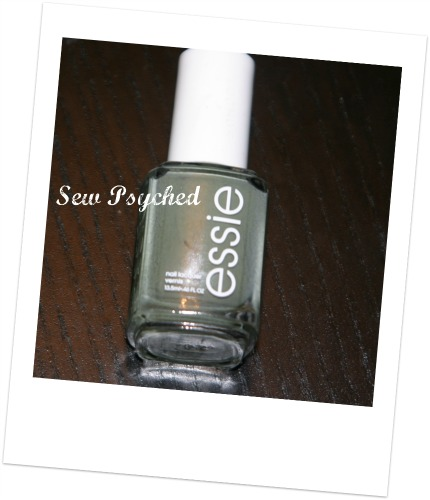 Essie Sew Psyched nail polish swatch