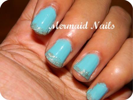 Mermaid nails Fall 2011 nail trends and nail polish