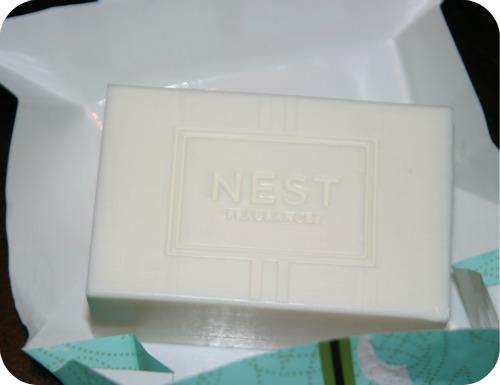 NEST Fragrances moss mint bar soap unwrapped