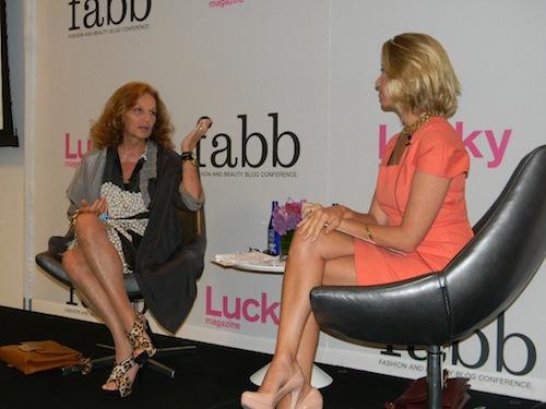 Lucky Fabb panel Diane Von Furstenberg