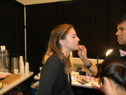 Mally Roncal at Tracy Reese Spring 2012 makeup