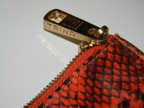Trina Large Envelop Cosmetic Bag in Rita, Orange