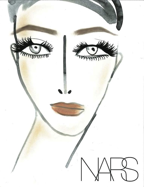 NARS for Marc Jacobs SS12 face chart