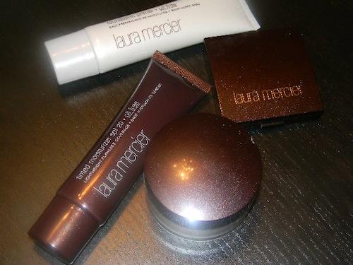 Laura Mercier Flawless Face primer, tinted moisturizer, concealer and powder
