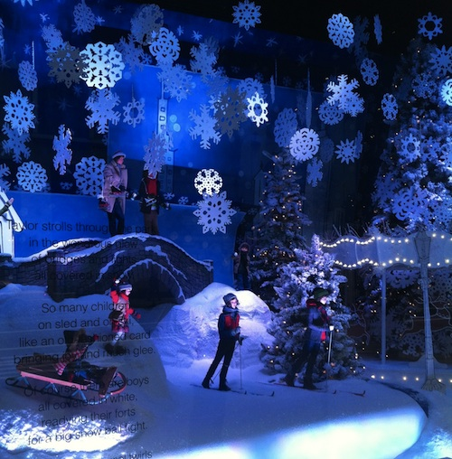 Window display at Lord and Taylor department store in New York City